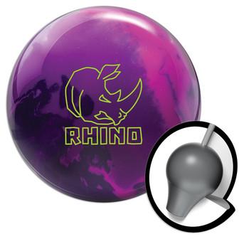 Brunswick Rhino Bowling Ball - Magenta/Purple/Navy and Core