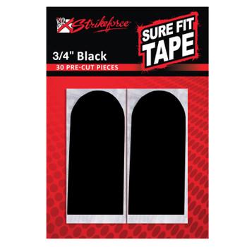"""KR Strikeforce Sure Fit Tape - Black 3/4"""" (30 pcs)"""