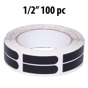 "KR Strikeforce Sure Fit Tape - Black 1/2"" 100 Piece Roll"