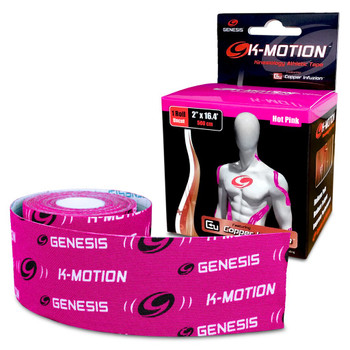 Genesis K-Motion Tape - Pink - 16.4 Ft Roll
