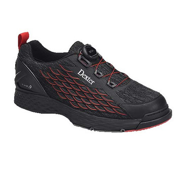 Dexter THE C9 Knit Boa Black/Red Bowling Shoes
