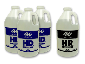 Motiv HR Bowling Ball Plug - 2 Gallon Kit (3 - 1/2 Gallons of Resin, 1 - 1/2 Gallon of Hardener) for plugging your bowling ball