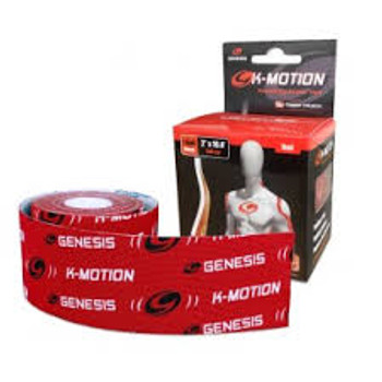 Genesis K-Motion Tape - Red - 16.4 Ft Roll