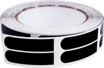 "PowerHouse Premium Black Smooth 1/2"" Bowling Tape - 500 Roll"