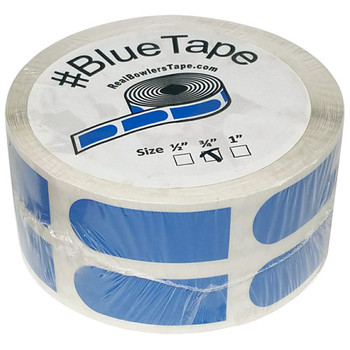 "The Real Bowler's Tape Blue Smooth 3/4"" Bowling Tape - 500 Piece Roll"
