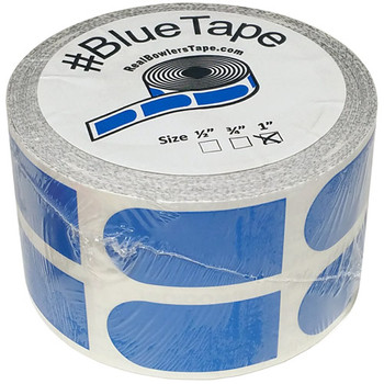 "The Real Bowler's Tape Blue Smooth 1"" Bowling Tape - 500 Piece Roll"