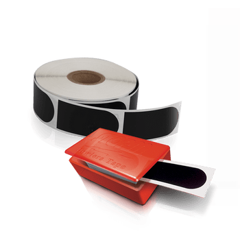 """Storm Black Smooth 1"""" Bowling Tape - 30 piece and 500 piece roll displayed - each sold separately"""