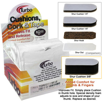 "Turbo Shur Cushion - 3/8""- 10 Piece Box"