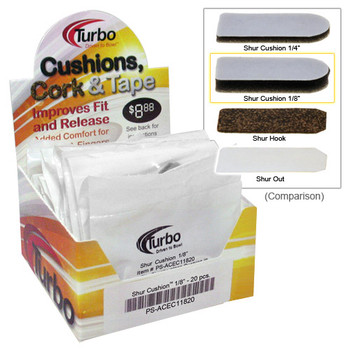 "Turbo Shur Cushion - 1/8""- 20 Piece Box"