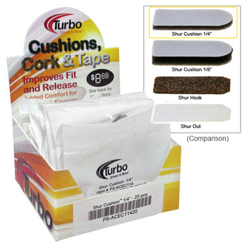 "Turbo Shur Cushion - 1/4""- 20 Piece Box"