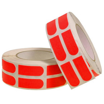 "Turbo Red Slick Strips 3/4"" Bowling Tape - 500 Roll"
