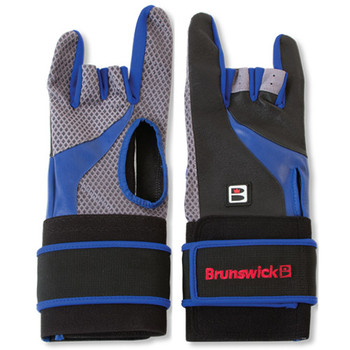 Brunswick Grip All X Bowling Glove - Black/Blue