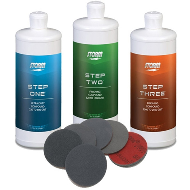 Storm Pro Finishing Steps 1-2-3 with Complete Set of Abralon Pads - old label