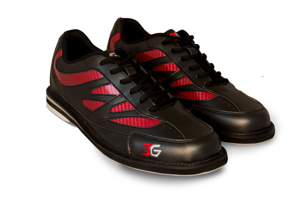 3G Unisex Cruze Bowling Shoes - Black/Red - pair