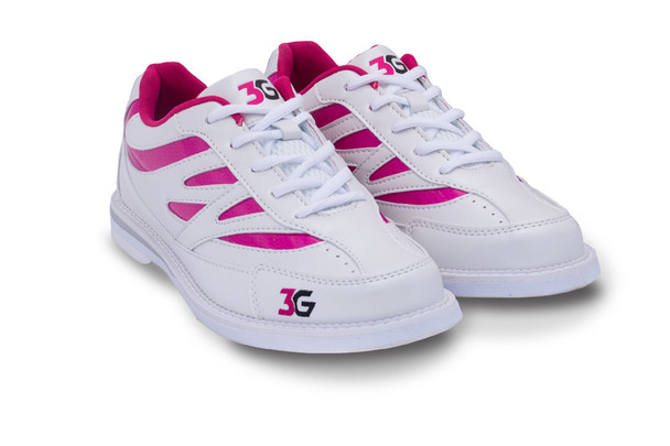 3G Women's Cruze Bowling Shoes - White/Pink - pair