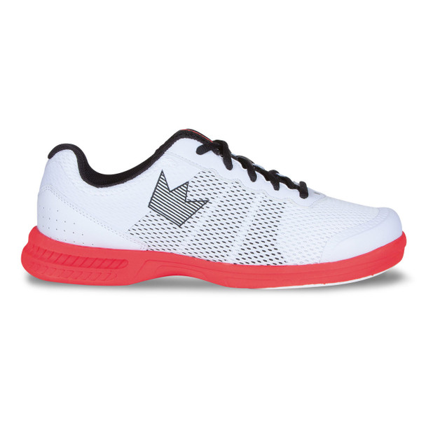 Brunswick Fuze Mens Bowling Shoes - White/Red - side of shoe