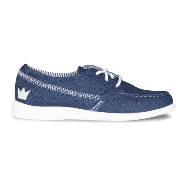 Brunswick Karma Womens Bowling Shoes Denim - side of shoe