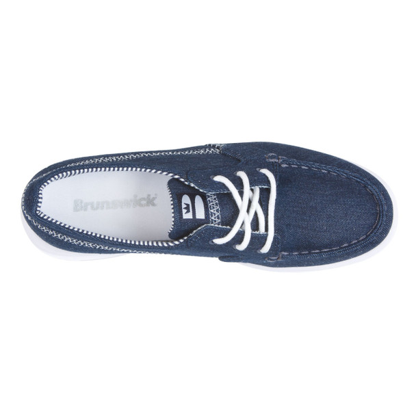 Brunswick Karma Womens Bowling Shoes Denim - top of shoe