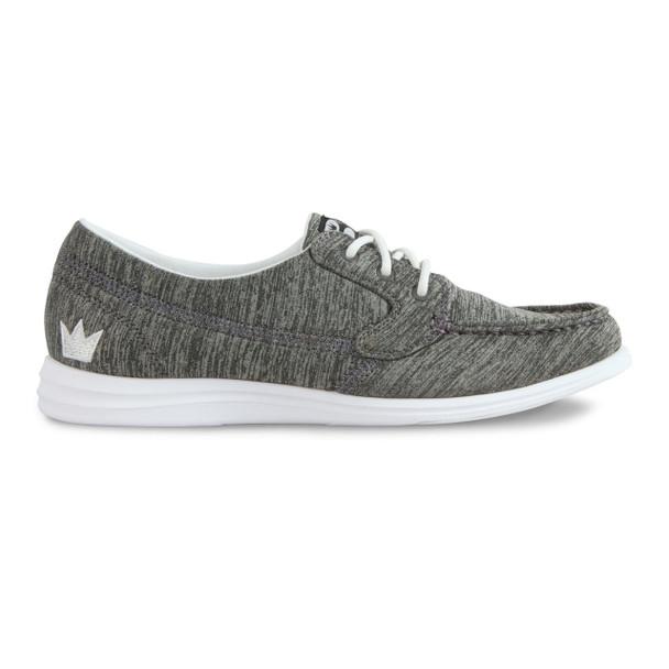 Brunswick Karma Womens Bowling Shoes - Grey - side of shoe