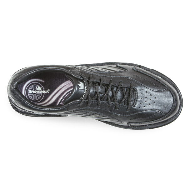 Brunswick Team Brunswick Mens Bowling Shoes - Black - Right Handed - WIDE - top of shoe