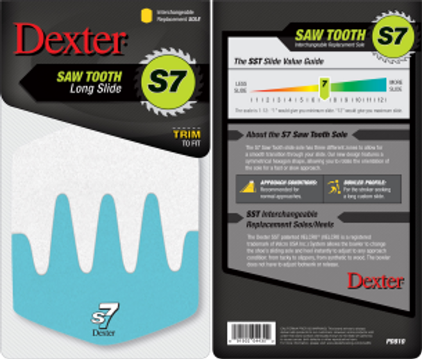 Dexter Replacement Sole - Sawtooth Sole (S7) - Model-PD810