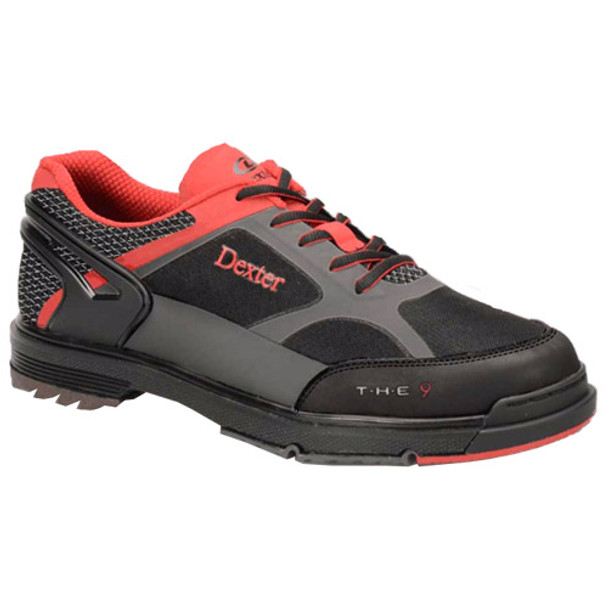 Dexter THE 9 Mens Bowling Shoes Black/Red/Grey