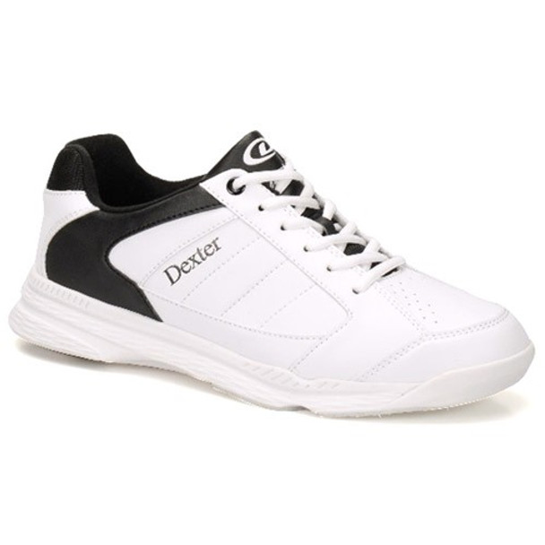 Dexter Ricky IV Mens Bowling Shoes - White/Black Trim - WIDE