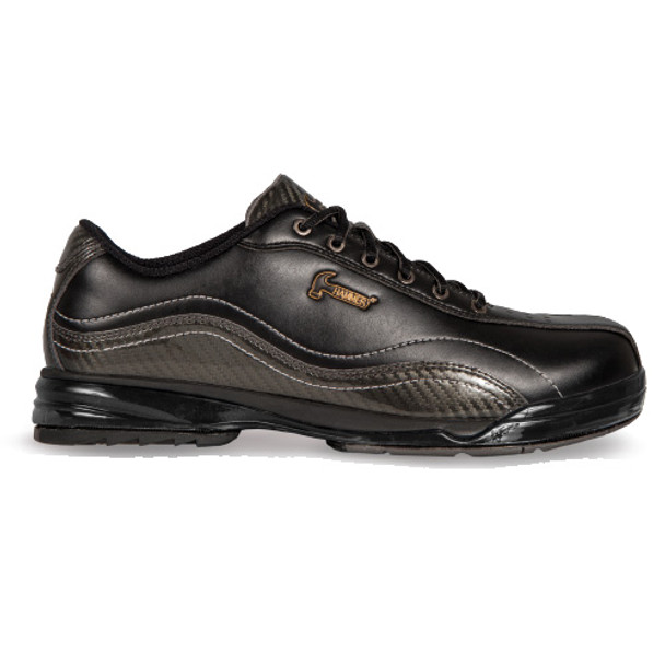 Hammer Force Mens Bowling Shoes Black/Carbon - Right Handed -  WIDE - Side view
