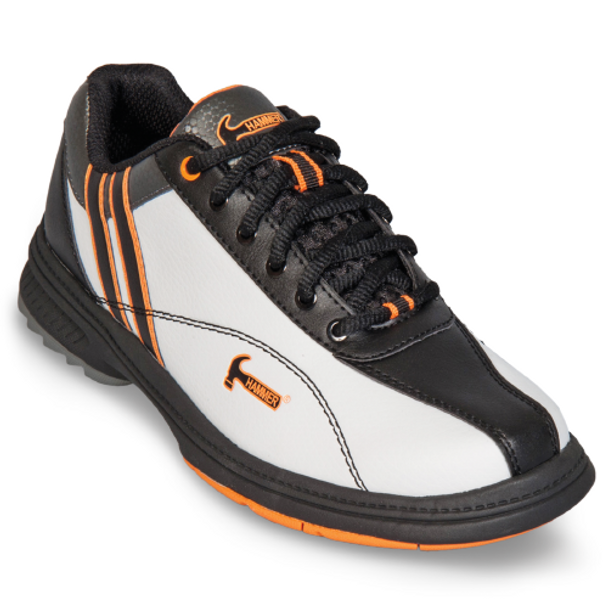 Hammer Vixen Womens Bowling Shoes White/Black/Orange Right Hand - right show
