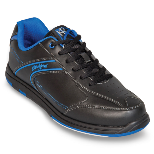 KR Strikeforce Flyer Youth Bowling Shoes Black/Mag Blue - angle