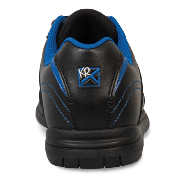 KR Strikeforce Flyer Youth Bowling Shoes Black/Mag Blue - back of shoe