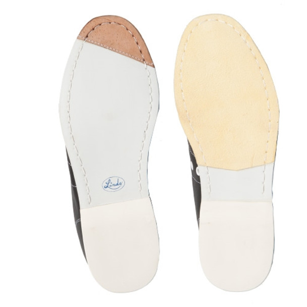 Linds Classic Mens Bowling Shoes White Leather Right Handed - bottom of shoe