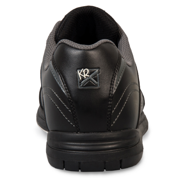 KR Strikeforce Flyer Mens Bowling Shoes Black WIDE - back of shoe