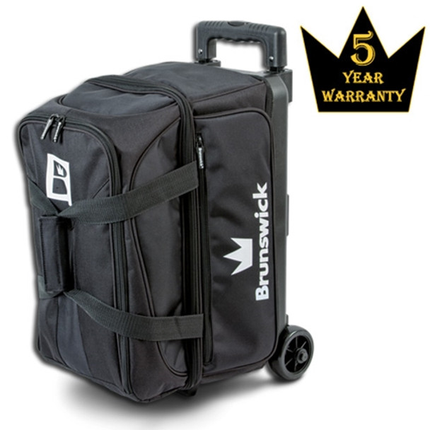 Brunswick Blitz Double Roller Bowling Bag - Black Bowling Bag