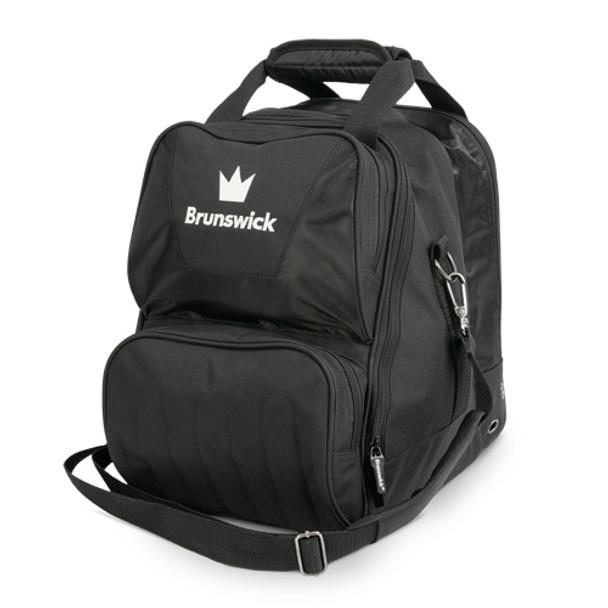 Brunswick Crown Single Tote - Black Bowling Bag