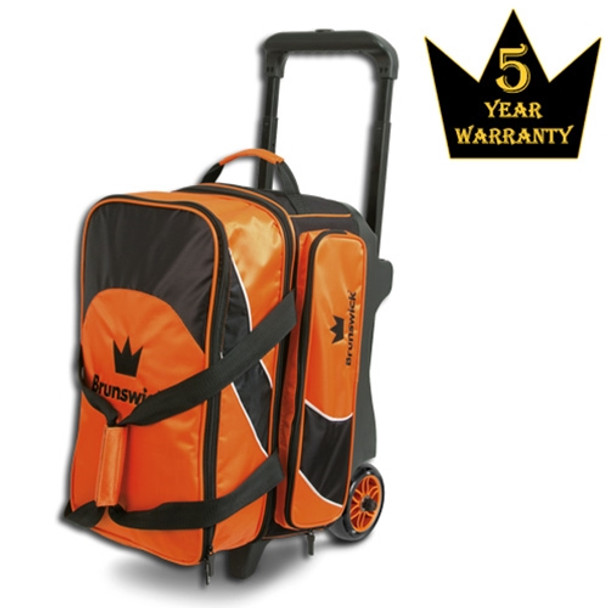 Brunswick Edge Double Roller Bowling Bag - Orange