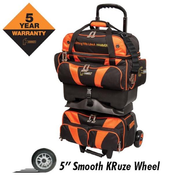 Hammer Premium 4 Ball Roller Black/Orange