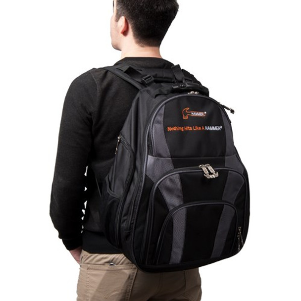 Hammer Deuce 2 Ball Backpack on Back