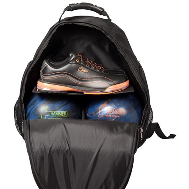 Hammer Deuce 2 Ball Backpack Opened