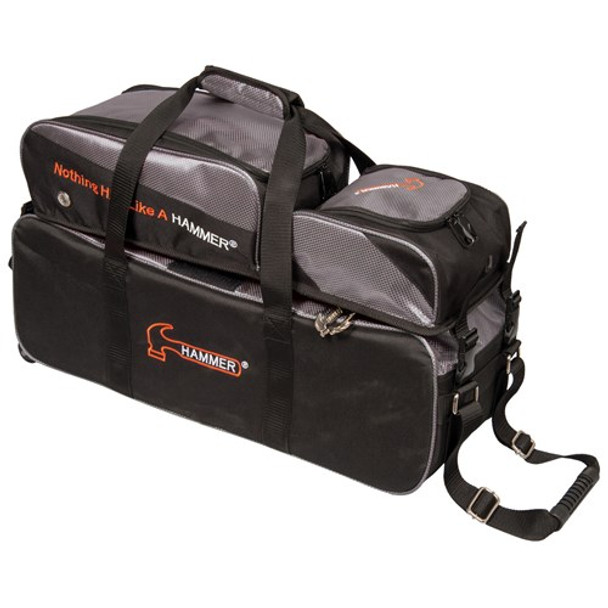 Hammer Triple Tote with Shoe Pouch Black/Carbon