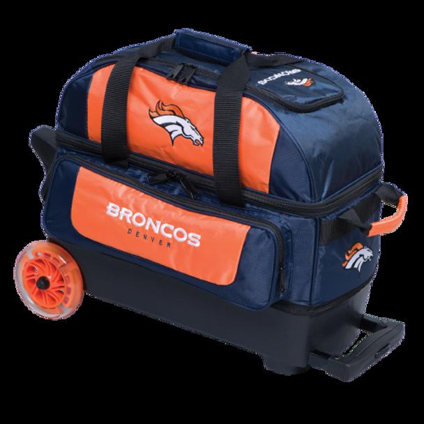 KR Strikeforce NFL Denver Broncos 2 Ball Roller Bowling Bag