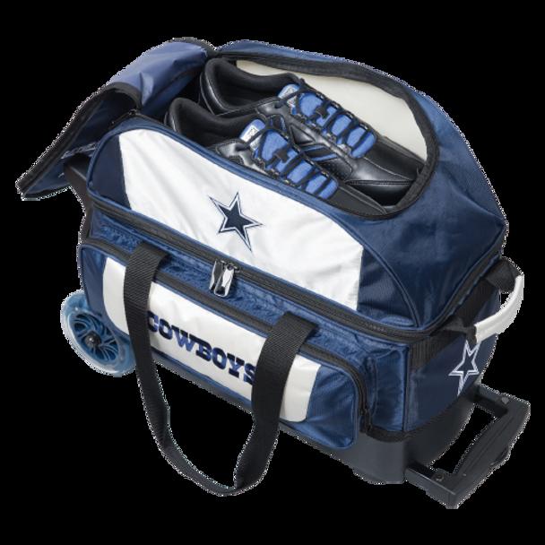 KR Strikeforce NFL 2 Ball Roller Bowling Bag Shoe Detail