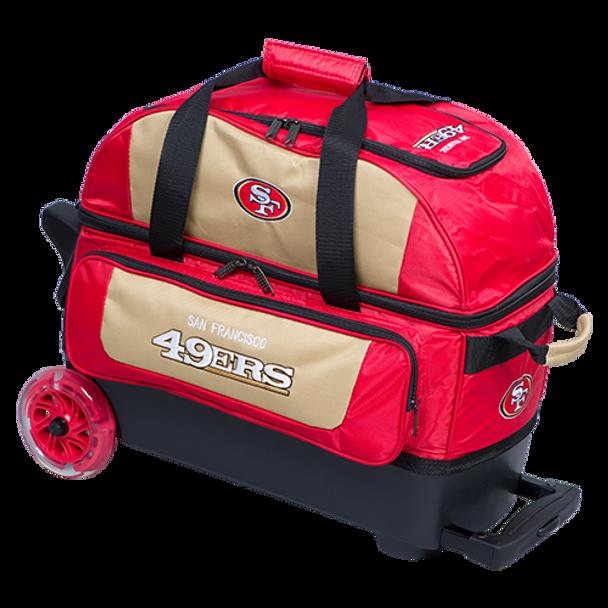 KR Strikeforce NFL San Francisco 49ers 2 Ball Roller Bowling Bag
