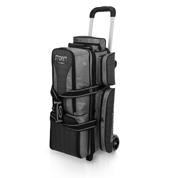 Storm Rolling Thunder 3 Ball Roller Bowling Bag - Plaid/Grey/Black