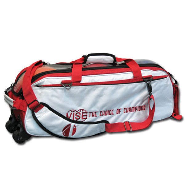 Vise 3 Ball Tote Roller White/Red