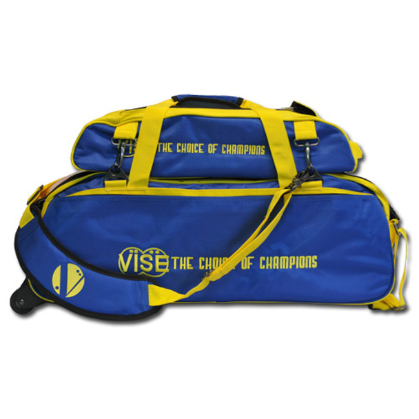 Vise 3 Ball Tote Roller with Shoe Pouch Blue/Yellow