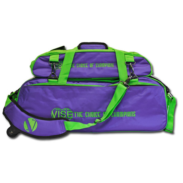 Vise 3 Ball Tote Roller with Shoe Pouch Grape/Green
