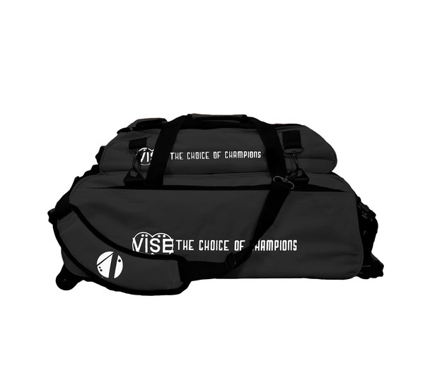 Vise 3 Ball Tote Roller with Shoe Pouch Black