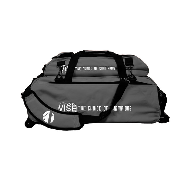 Vise 3 Ball Tote Roller with Shoe Pouch Gray
