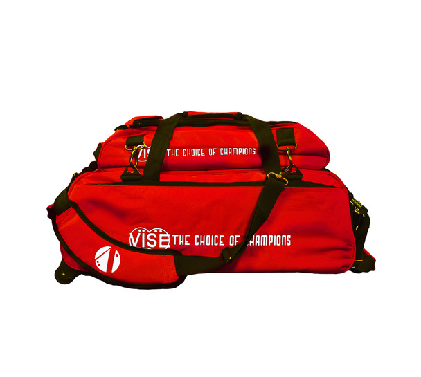 Vise 3 Ball Tote Roller with Shoe Pouch Red